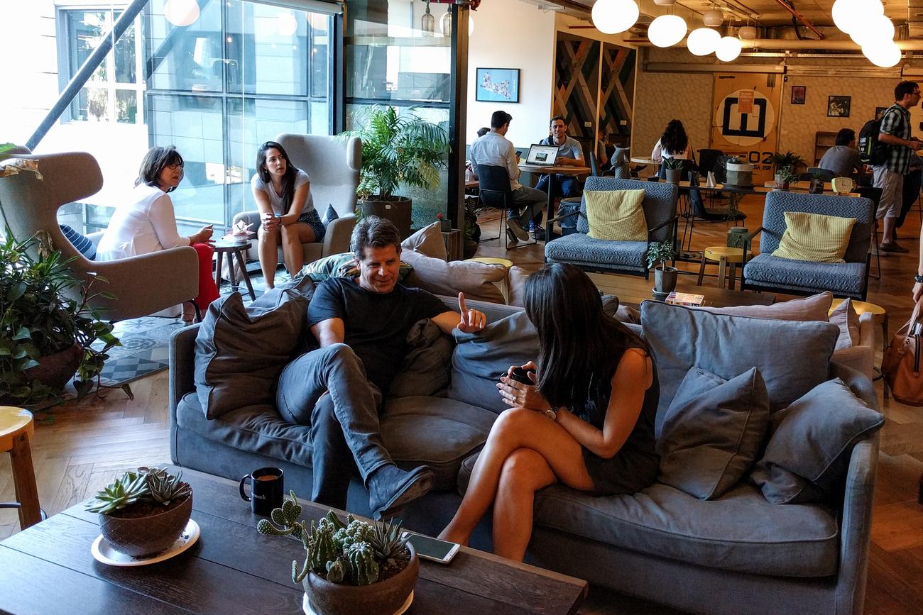 WeWork coworking-iroda Tel-Avivban - Fotó: Előd Fruzsina / Index