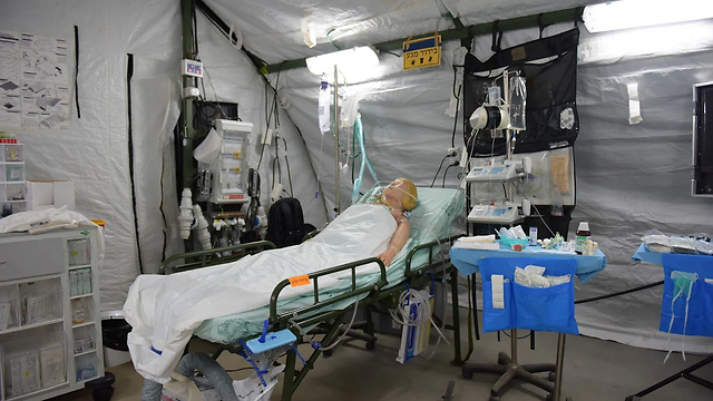 A díjnyertes tábori kórház – fotó: Izraeli Védelmi Erők szóvivője