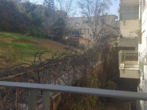 Itt több szerencse volt és a tűzoltók időben eloltották a tüzet. - fotó: Vadász Éva