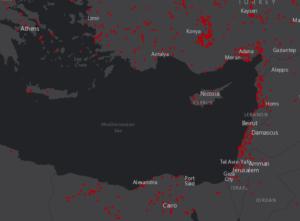Földközi-tenger / Global Forest Watch Fires