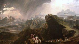 John Martin festménye a csatáról (Wikipedia)