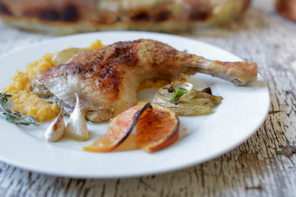 Sült csirke arakkal és vérnaranccsal