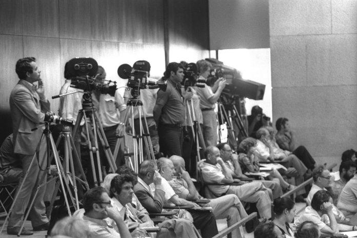 A sajtó a Kneszetben - fotó: Moshe Milner / GPO