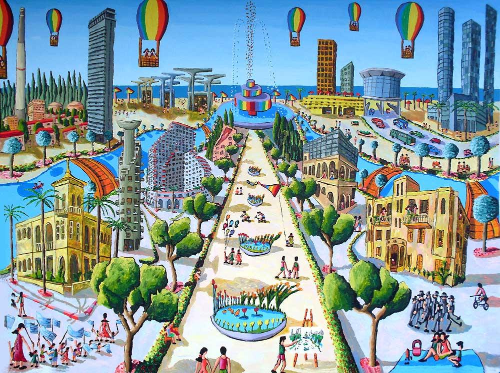 Tel Aviv - grafika: Raphael Perez / Flickr