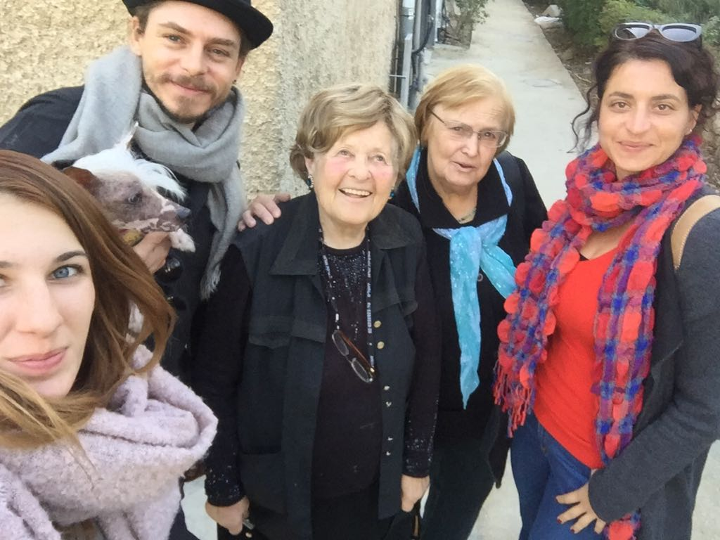 Selfie: Sára Salamon, Kristóf Joseph Steiner, Schnapp Lea, Markovits Mária, Eva Vadasz