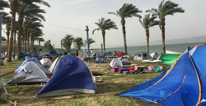 A Libanon parton már felszerelték a térnéző kamerákat - fotó: Kinneret Hatóság