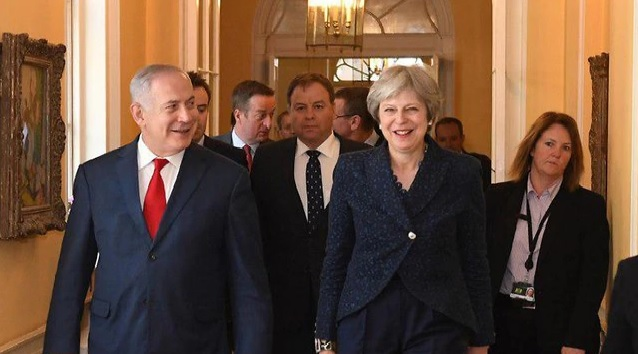 Benjamin Netanjahu és Theresa May