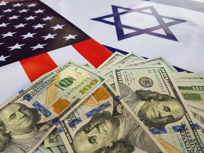 penz dollar usa izrael zaszlo