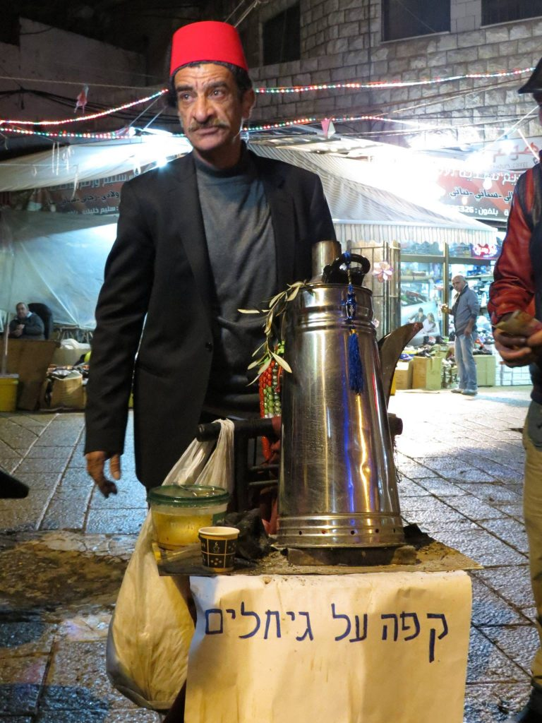 kave parazson kelet jeruzsalemben arab ferfi