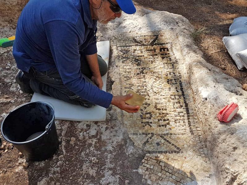 mozaik gorog samaritanusok szamaritanus padlo