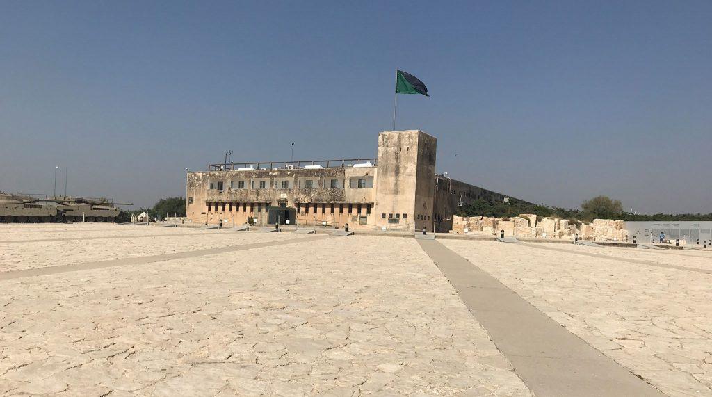 Brit rendőrség volt, aztán a jordán erőd, ma múzeum Latrunban - fotó: a szerző