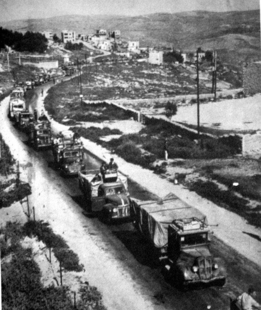 Konvoj érkezik Jeruzsálembe - fotó: wikipedia