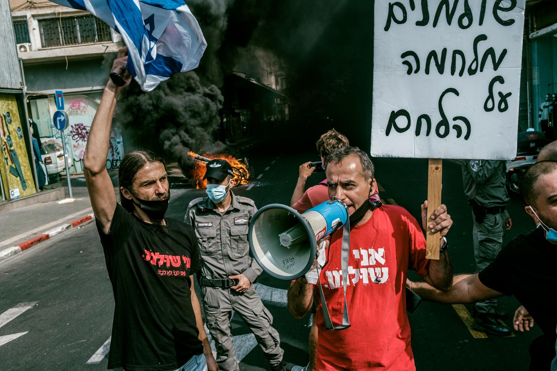 Képriport – Kisvállalkozók tüntettek Tel Avivban