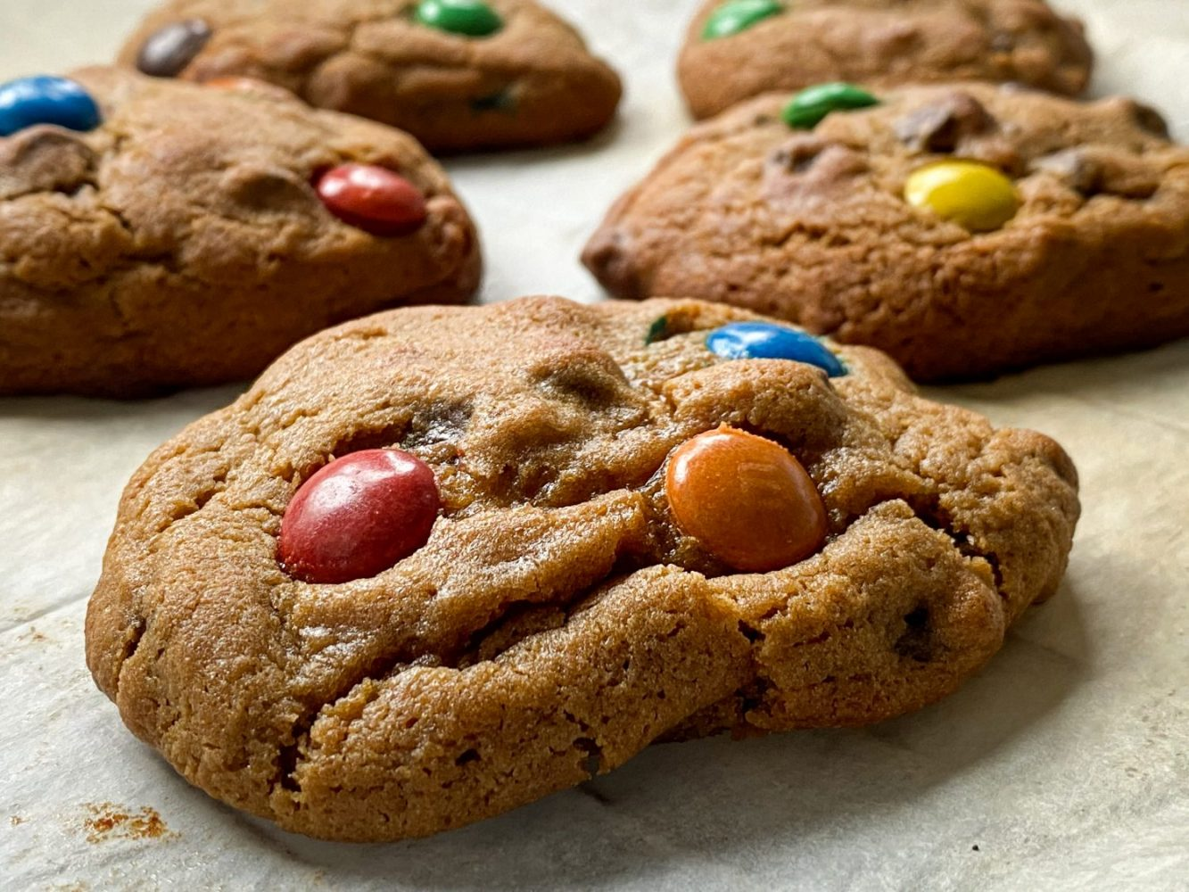 Cukorsokk – M&M's cookies